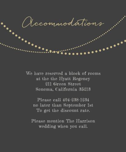 String Lights Foil Accommodation Cards