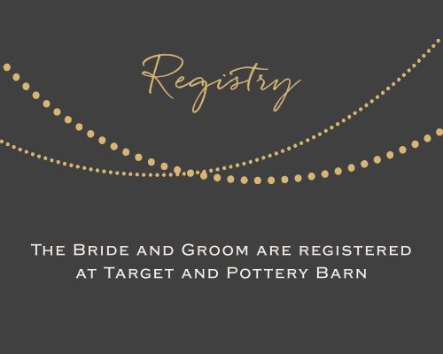 String Lights Foil Registry Cards