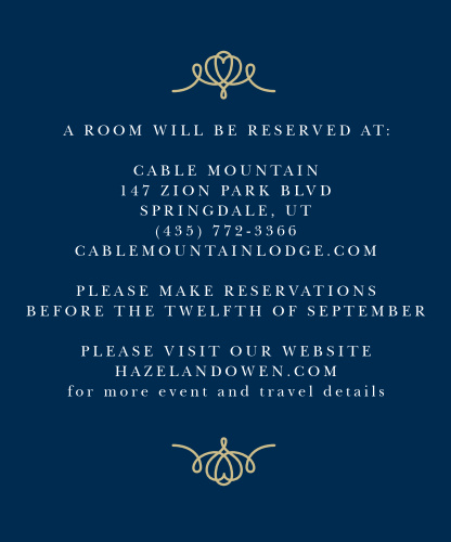 Royal Scrolls Foil Accommodation Cards