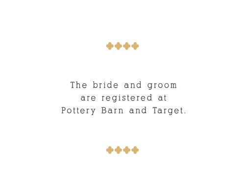 Whimsical Calligraphy Foil Registry Cards