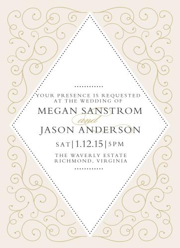 dfe5b4029096 Swirl Frame Foil Wedding Invitations