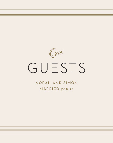 Deco Type Guest Book