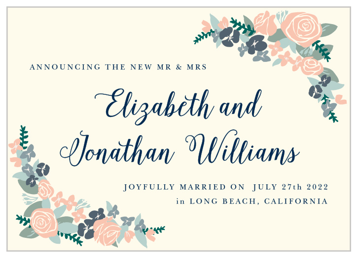 Beautiful Wedding Announcements.Beautiful Wedding Announcements Match Your Color Style Free