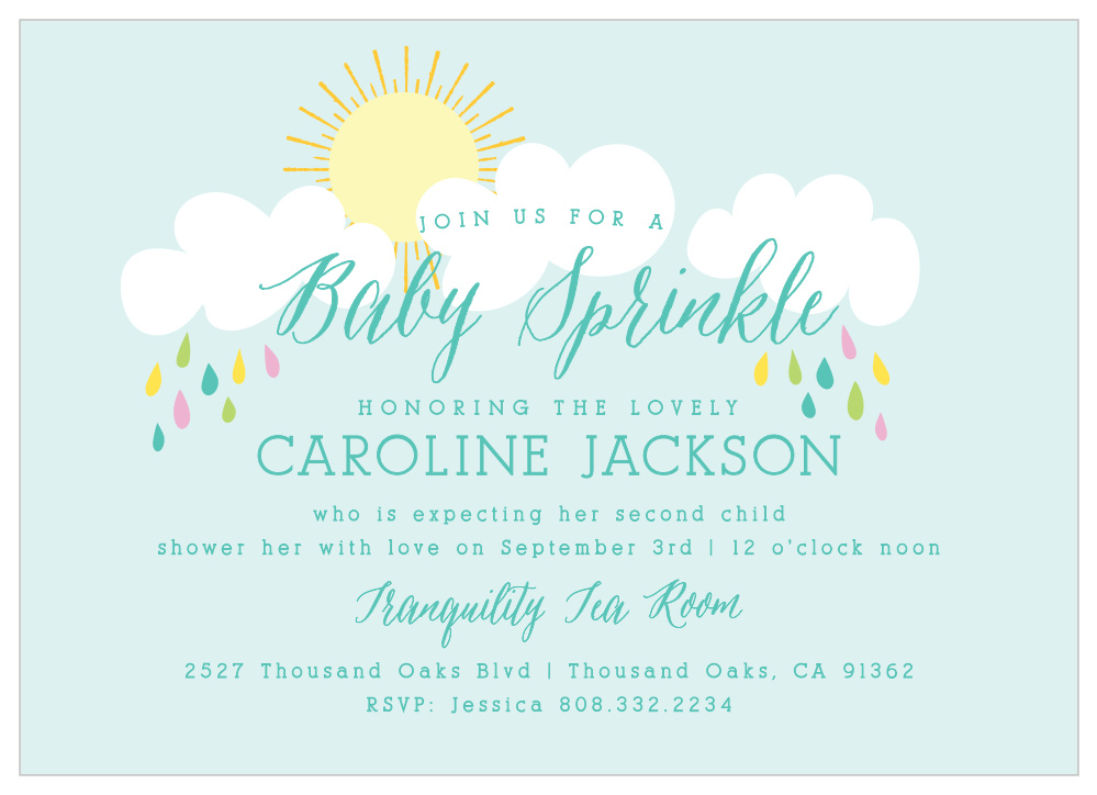 Sprinkle Shower Baby Shower Invitations