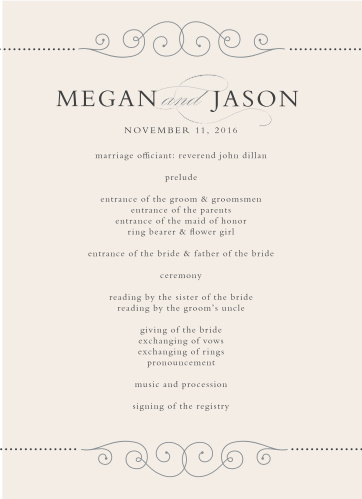 editable wedding programs match your color style free
