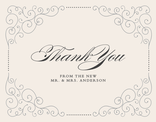 Swirl Frame Thank You Cards