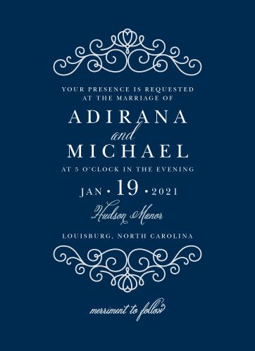 Royal Scrolls Wedding Invitations
