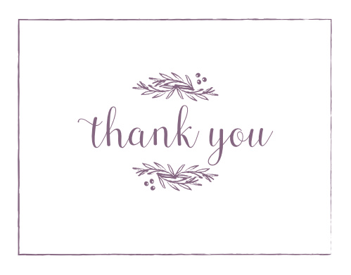 Delicate Laurel Thank You Cards