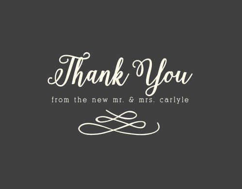 Whimsical Calligraphy Thank You Cards