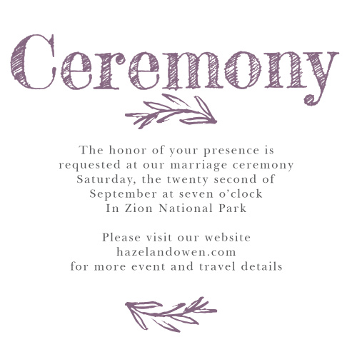 Delicate Laurel Ceremony Cards