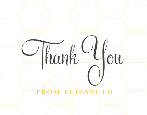 Mommy To Bee Thank You Cards