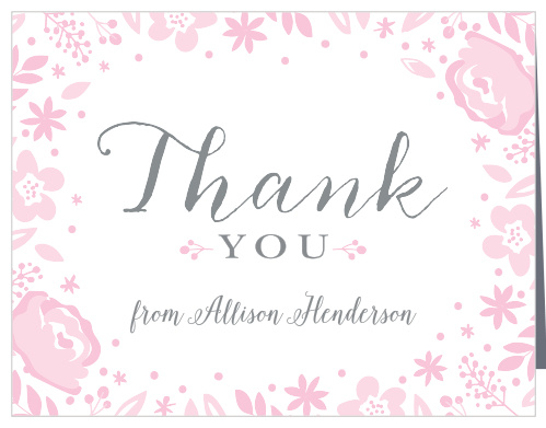 Baby Shower Thank You Cards | Match Your Color & Style Free