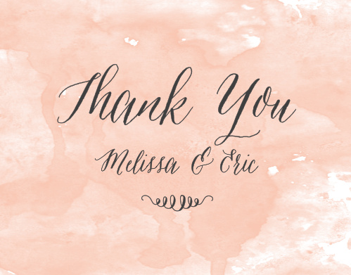 Watercolor Script Thank You Cards