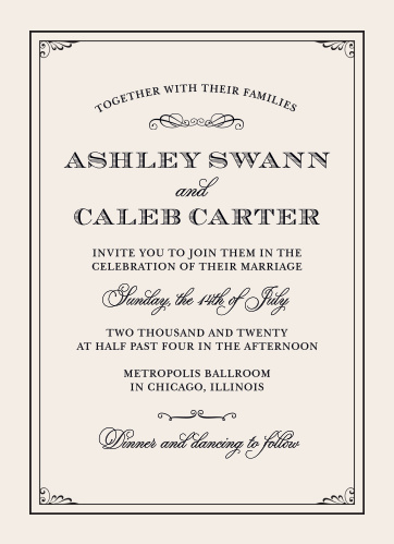 Grand Victorian Wedding Invitations