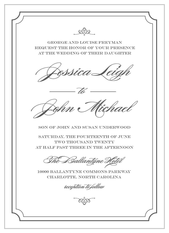 Elegant Script Wedding Invitations By Basic Invite