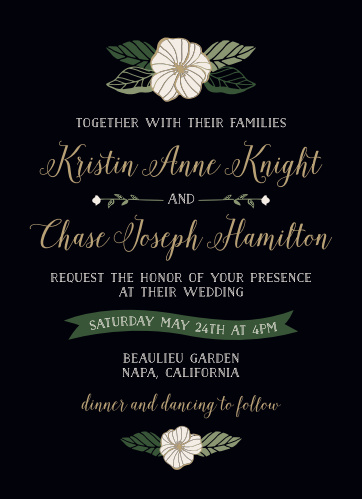 Garden Floral Wedding Invitations