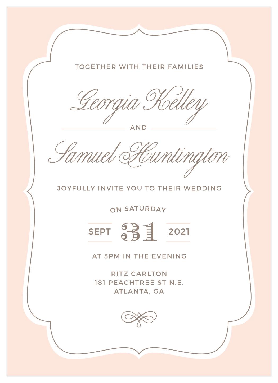 vintage frame wedding invitations by basic invite vintage frame wedding invitations