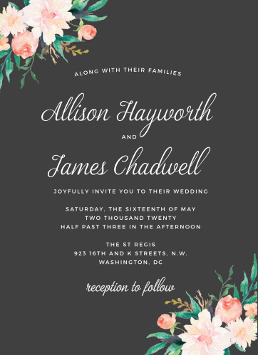 Blossoming Love Wedding Invitations