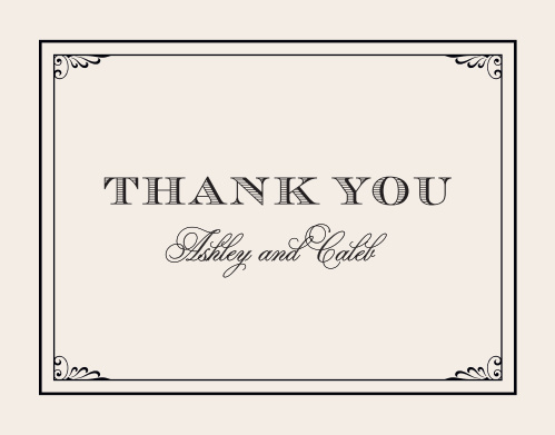 Grand Victorian Thank You Cards