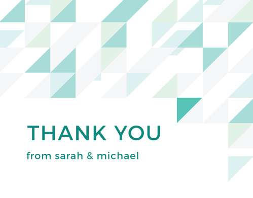 Chic Geometric Thank You Cards