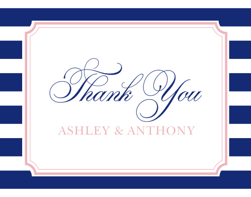 Preppy Stripe Thank You Cards