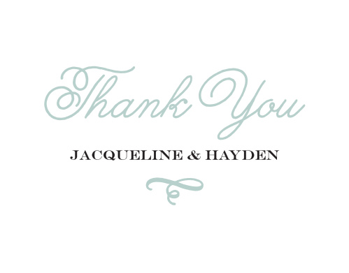 Whimsical Script Thank You Cards