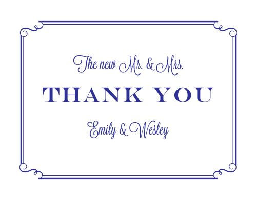 Handwritten Deco Thank You Cards