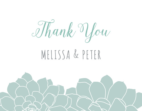 Sweet Succulents Thank You Cards
