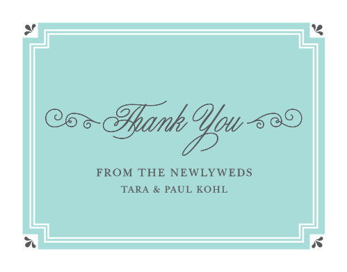 Parisian Chic Thank You Cards