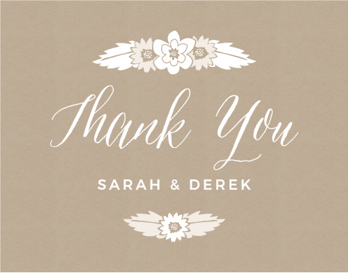Rustic Floral Thank You Cards