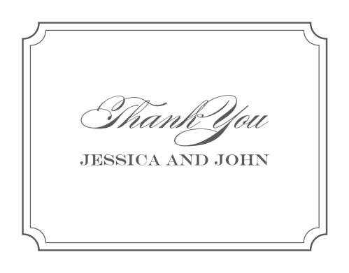 Elegant Script Thank You Cards
