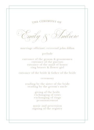 Emily Swash Wedding Programs