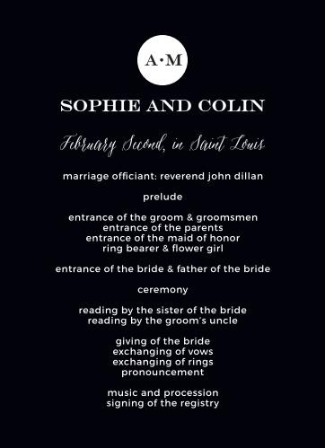Modern Elegant Wedding Programs