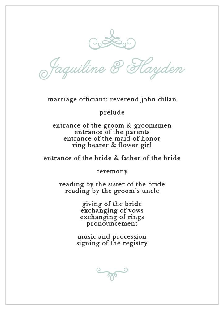 Whimsical Script Wedding Programs