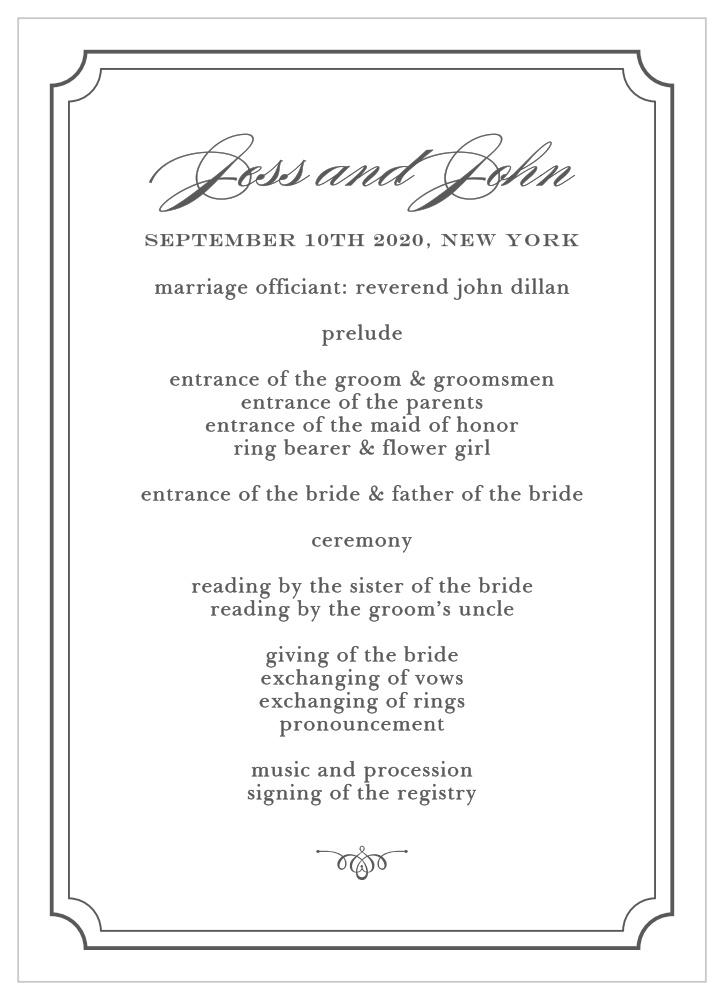 Elegant Script Wedding Programs