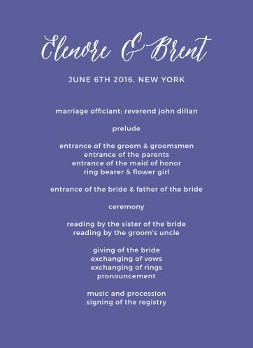 Rustic Script Wedding Programs