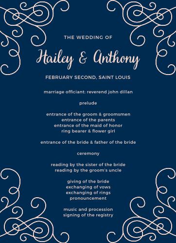 Modern Love Wedding Programs