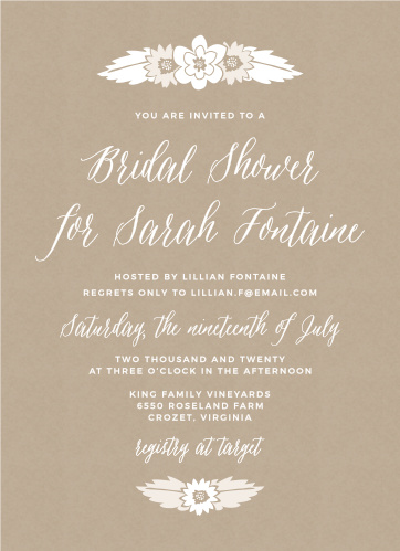 Rustic Bridal Shower Invitations Match Your Color Style Free