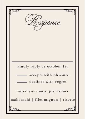 Grand Victorian Response Cards