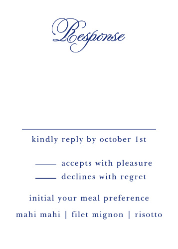 Preppy Stripe Response Cards