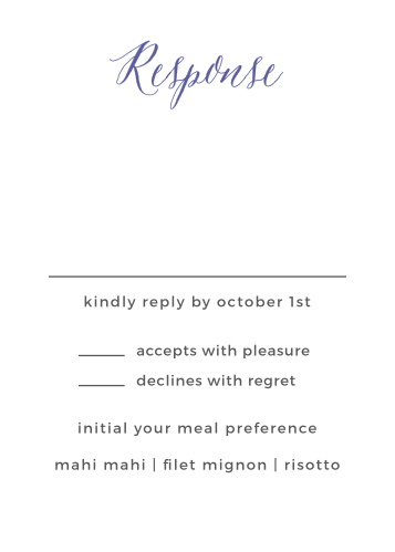 wedding reply cards examples