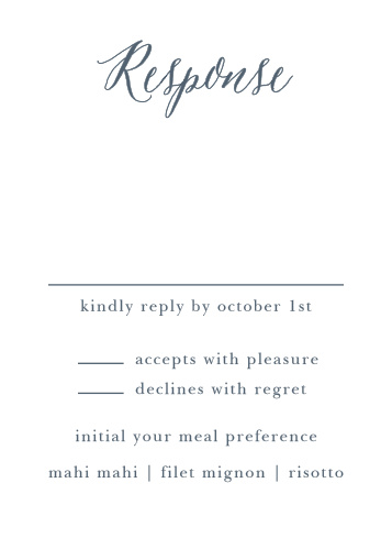Rustic Ombre Response Cards