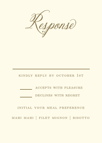 Romantic Vintage Response Cards