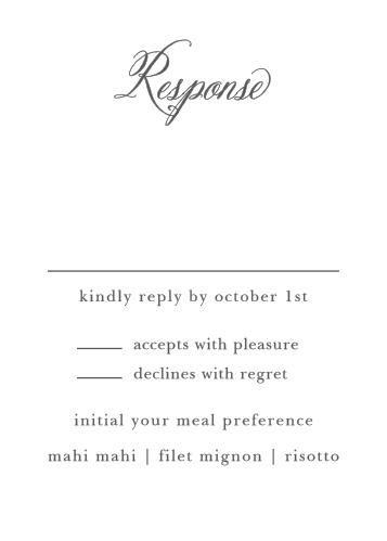 Calligraphy Script Response Cards