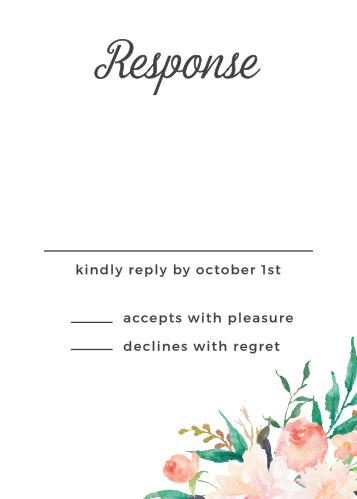 Blossoming Love Response Cards