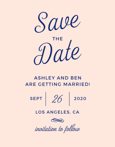 diamond monogram save the date cards