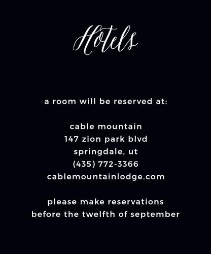 Modern Elegant Accommodation Cards