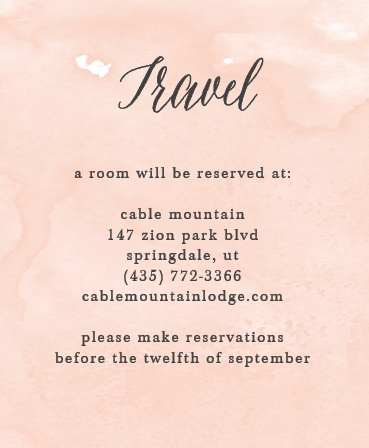 Watercolor Script Accommodation Cards