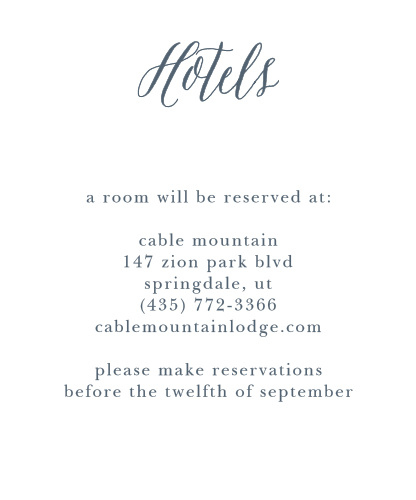 Rustic Ombre Accommodation Cards