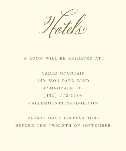 Romantic Vintage Accommodation Cards